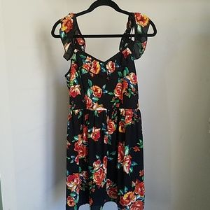 Xhiliration floral spaghetti strap dress
